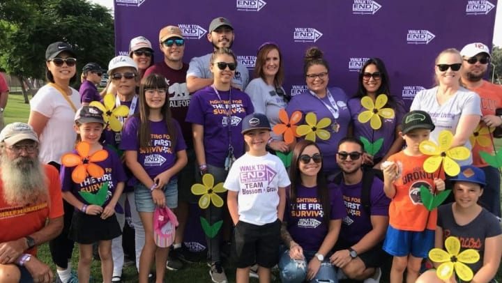 JEA team members at the Walk to End Alzheimer's